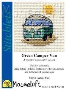 Mouseloft Green Camper Van Stitchlets cross stitch kit